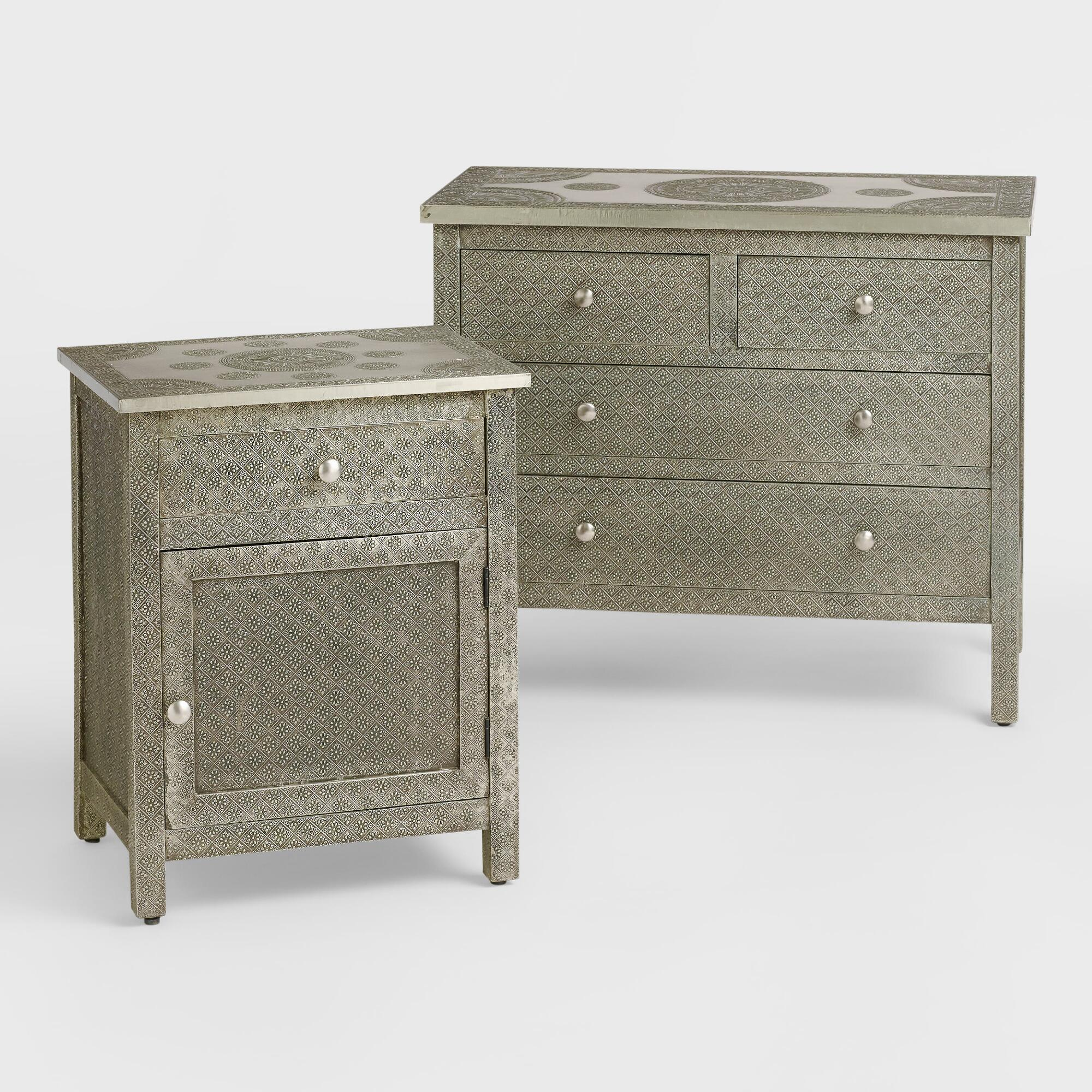 kiran embossed metal furniture collection world market