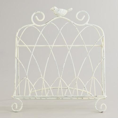 White Bird Cookbook Holder