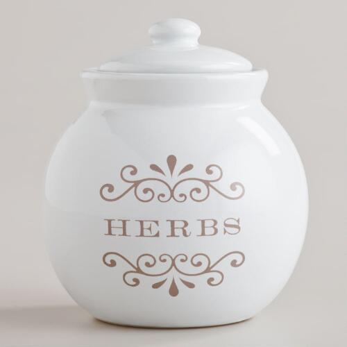 Ceramic Herb Jar