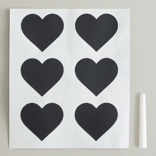 Heart Chalkboard Labels Set
