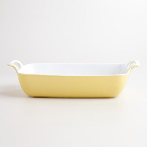 Small Yellow Rectangular Open Baker