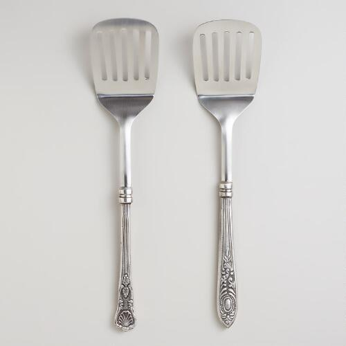 Vintage-Style Slotted Spatula, Set of 2