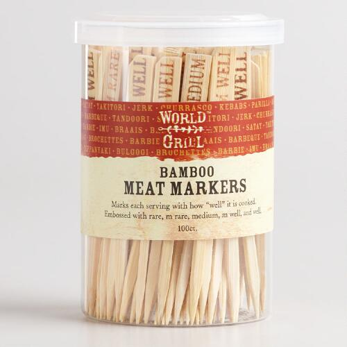 Wooden Meat Markers, 100-Count