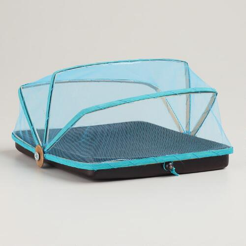 Turquoise Square Appetizer Dome