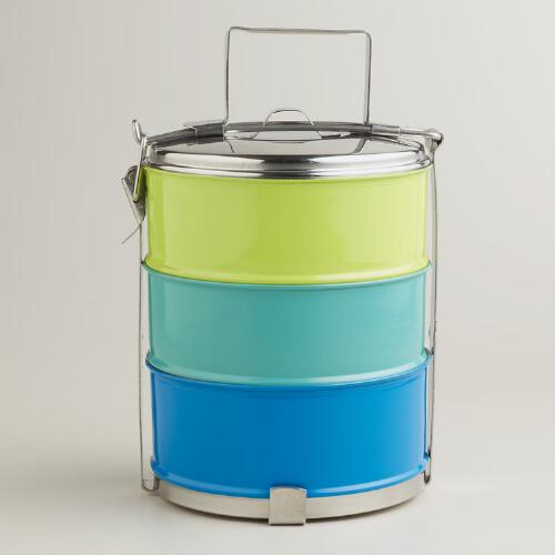 Cool Stainless Steel 3-Tier Tiffin Lunchbox