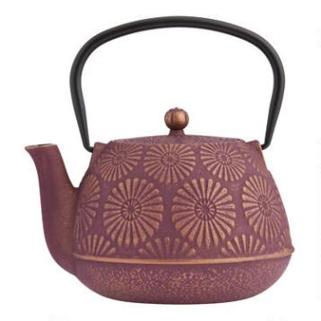Plum Flower Cast Iron Teapot