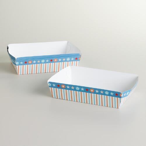 Paper Food Trays, 6 Pack