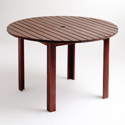 Round Bali Outdoor Dining Table