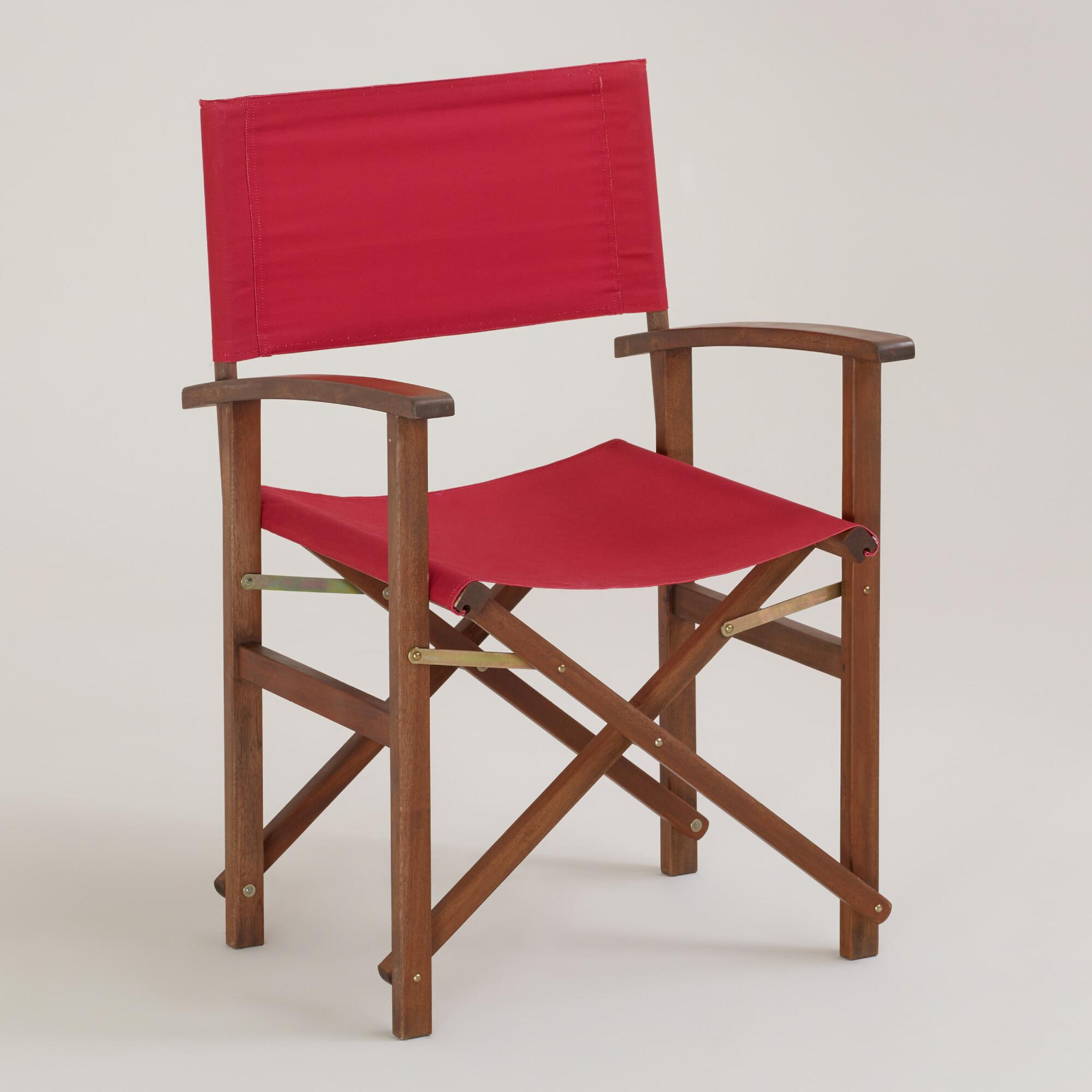 World Market Red Leather Chair: Formula One Red Bali Club Chair Canvas