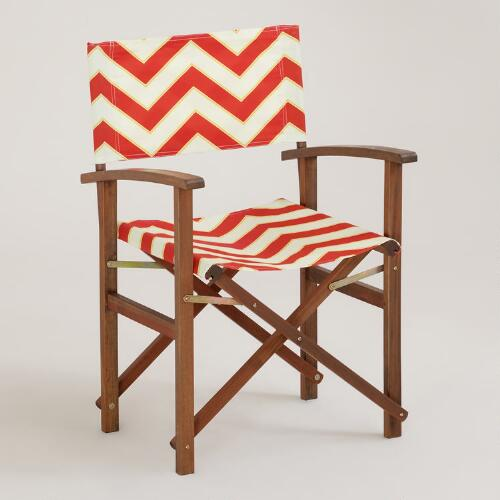 Chevron Bali Club Chair Canvas