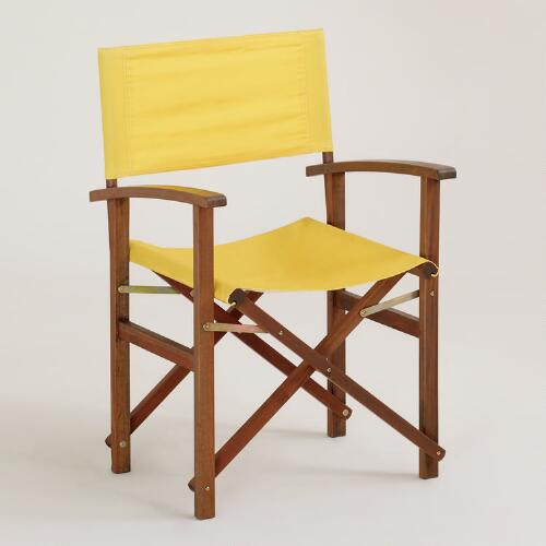 Solar Power Yellow Bali Club Chair Canvas