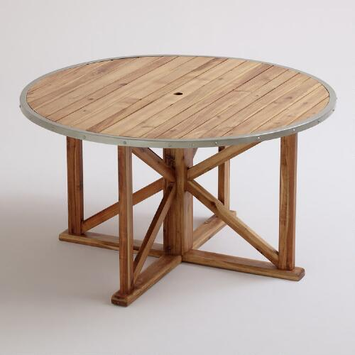 Round Antigua Outdoor Dining Table