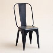 Black Cargo Chairs, Set of 2