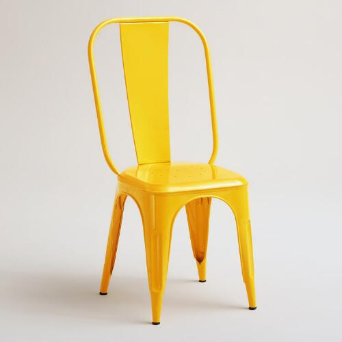 Yellow Cargo Chairs, Set of 2