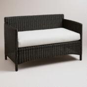 Dillon All-Weather Wicker Loveseat with Cushion
