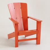 Spicy Orange Coastal Adirondack Chair