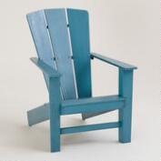Blue Coastal Adirondack Chair