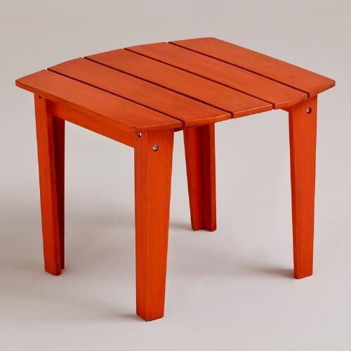 Spicy Orange Coastal Adirondack Side Table