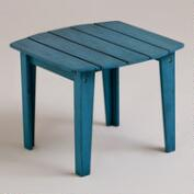 Blue Coastal Adirondack Side Table