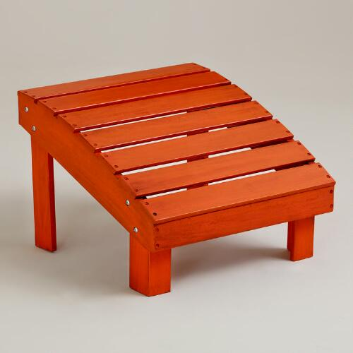 Spicy Orange Coastal Adirondack Stool