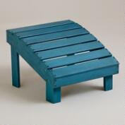 Blue Coastal Adirondack Stool