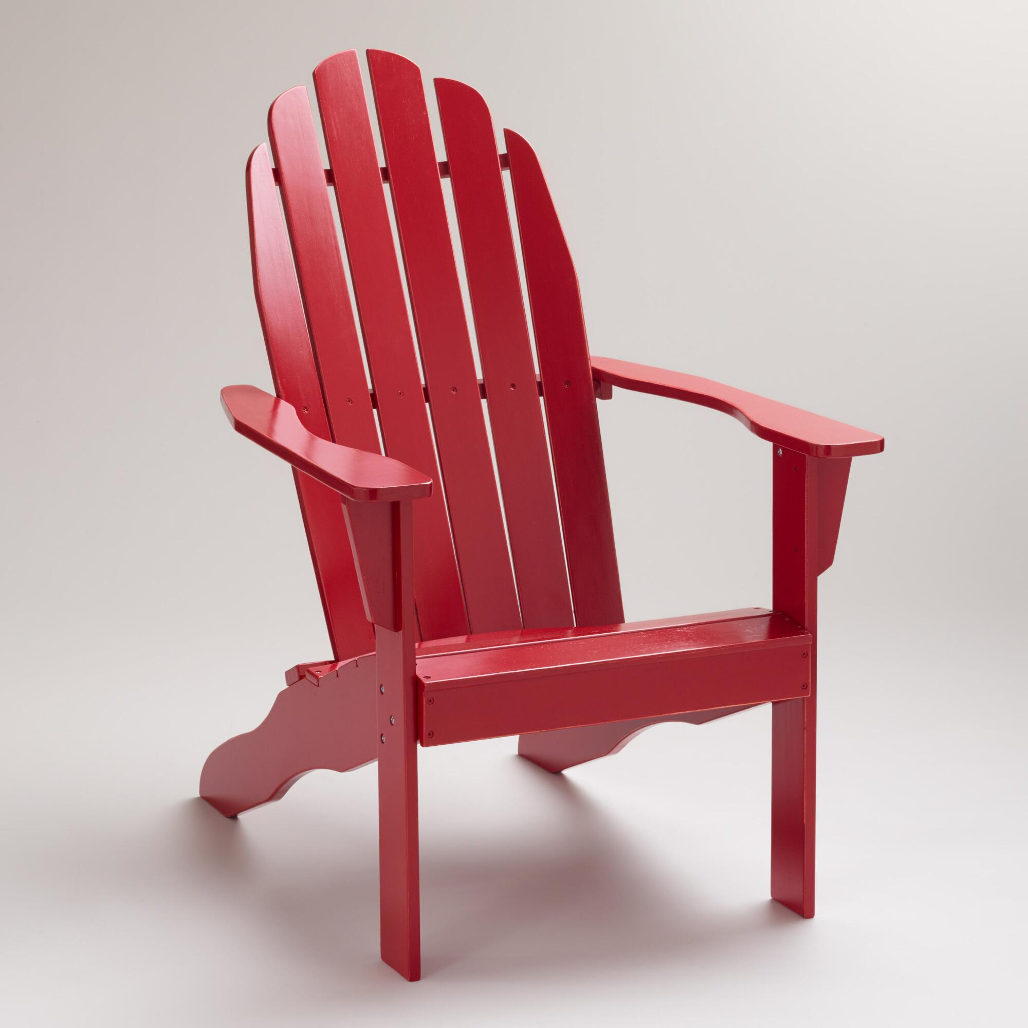 Cost Plus World Market Fall 2016 Collection: Formula One Red Classic Adirondack Chair
