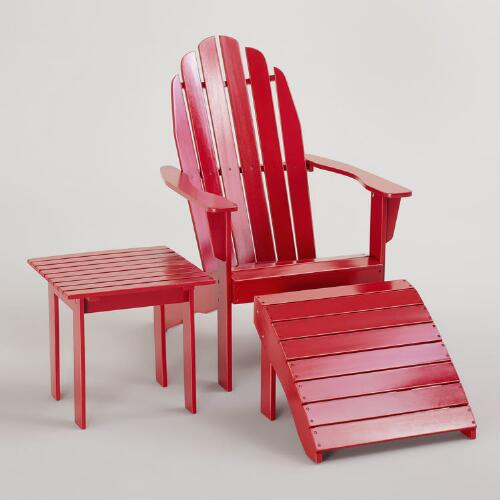 Formula One Red Classic Adirondack Collection