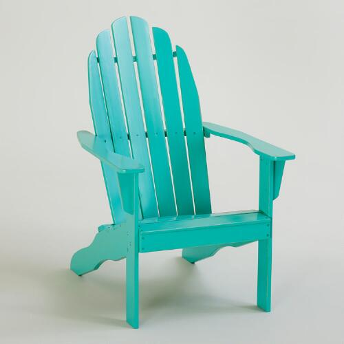 Blue Turquoise Classic Adirondack Chair