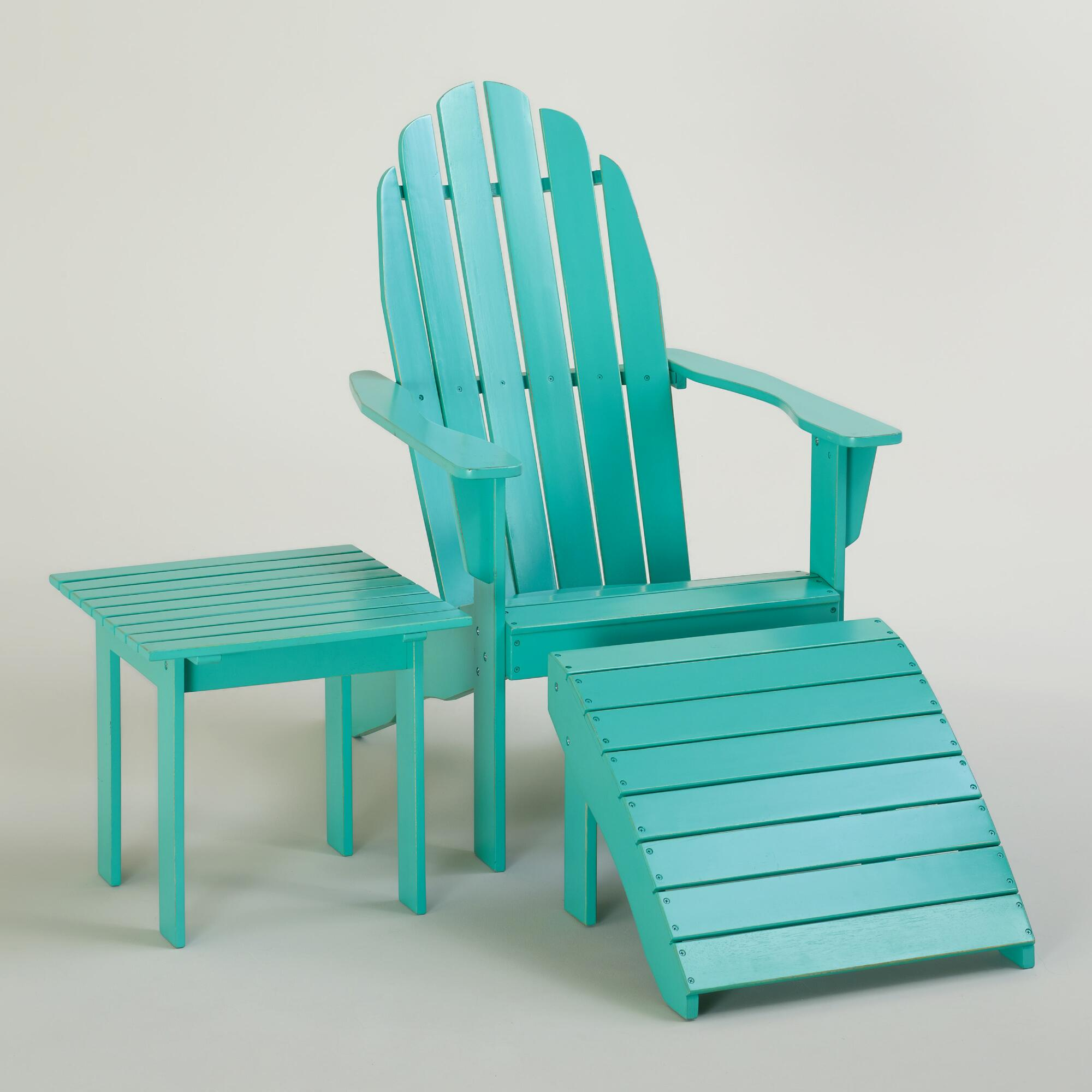 blue turquoise classic adirondack collection world market. Black Bedroom Furniture Sets. Home Design Ideas