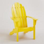 Solar Power Yellow Classic Adirondack Chair