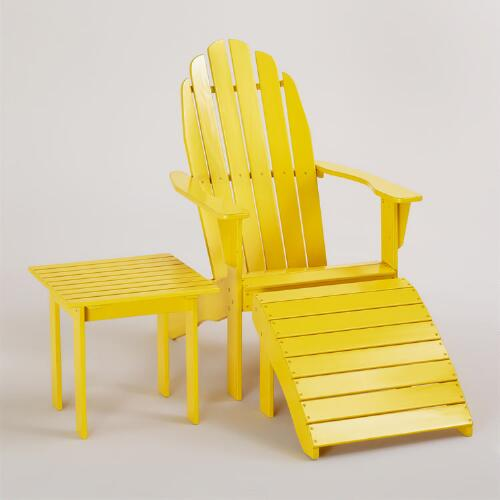 Solar Power Yellow Adirondack Collection