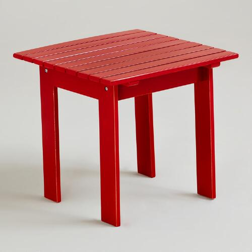 Formula One Red Classic Adirondack Side Table