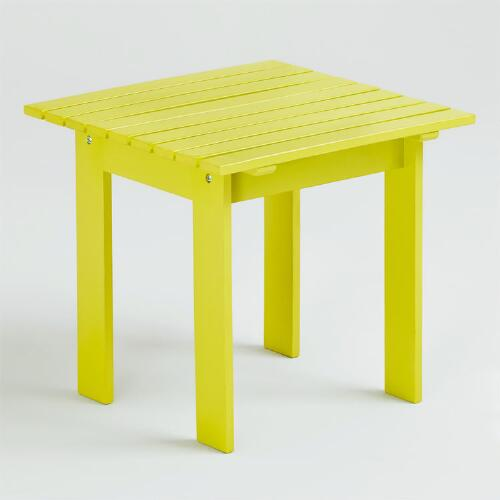 Apple Green Classic Adirondack Side Table