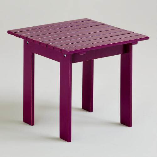 Magenta Purple Classic Adirondack Side Table