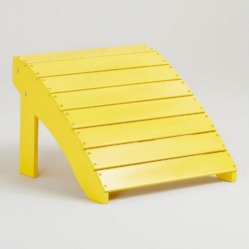 Solar Power Yellow Classic Adirondack Stool