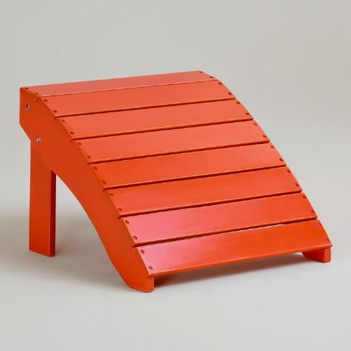 Spicy Orange Classic Adirondack Stool