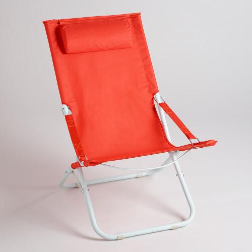 Spicy Orange Beach Chair