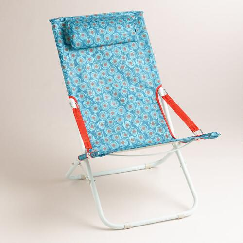 Blue Daisy Beach Chair