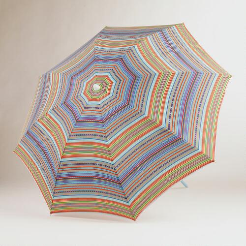Multicolor Stripe Beach Umbrella