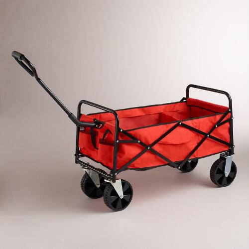 Spicy Orange Rolling Beach Cart