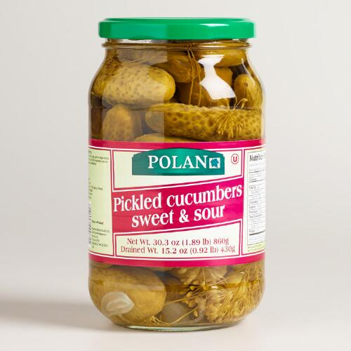 Polan Sweet and Sour Pickled Cucumbers