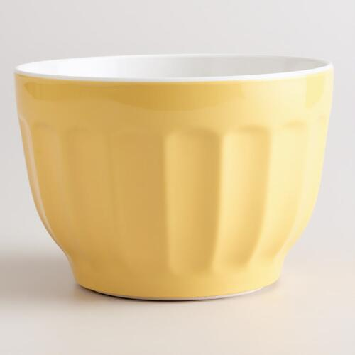 Small Yellow Melamine Mixing Bowl