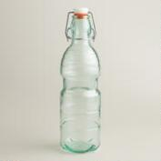 Aqua Recycled Glass Bottle