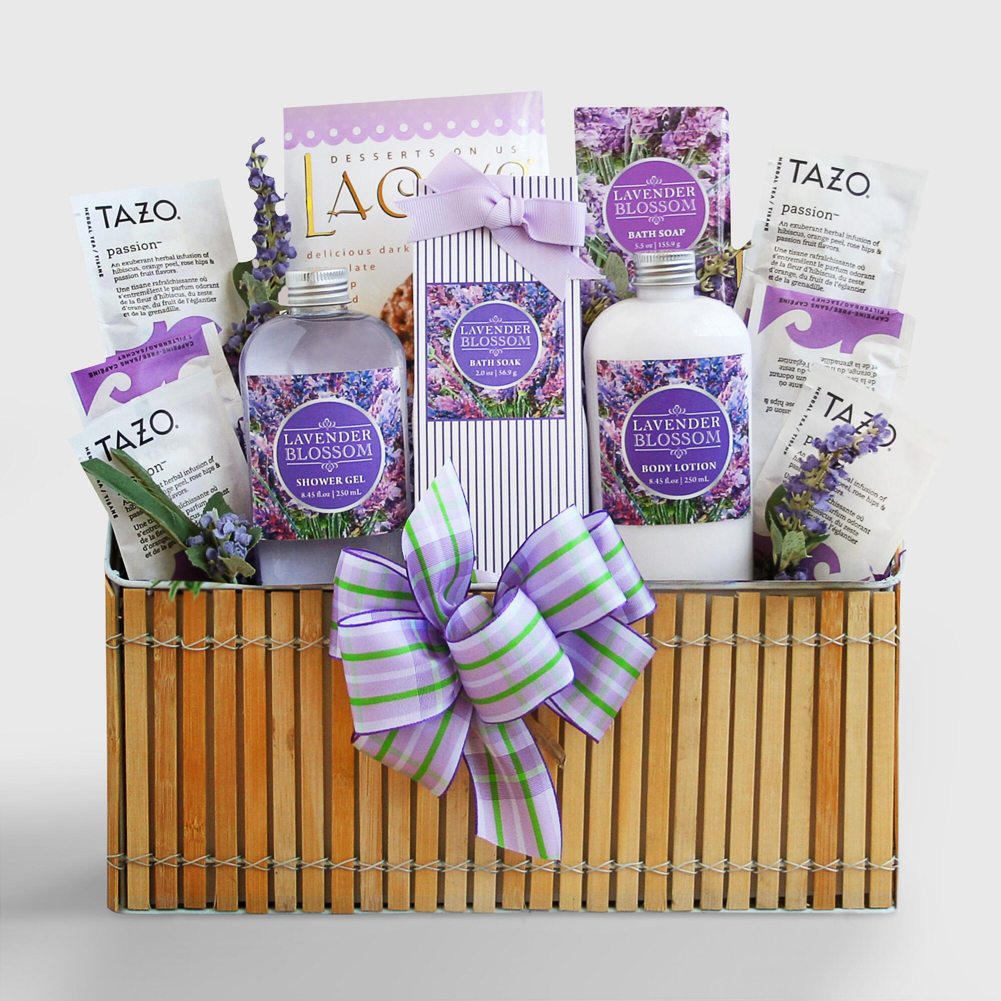 Fields of lavender spa gift basket world market for Spa gifi