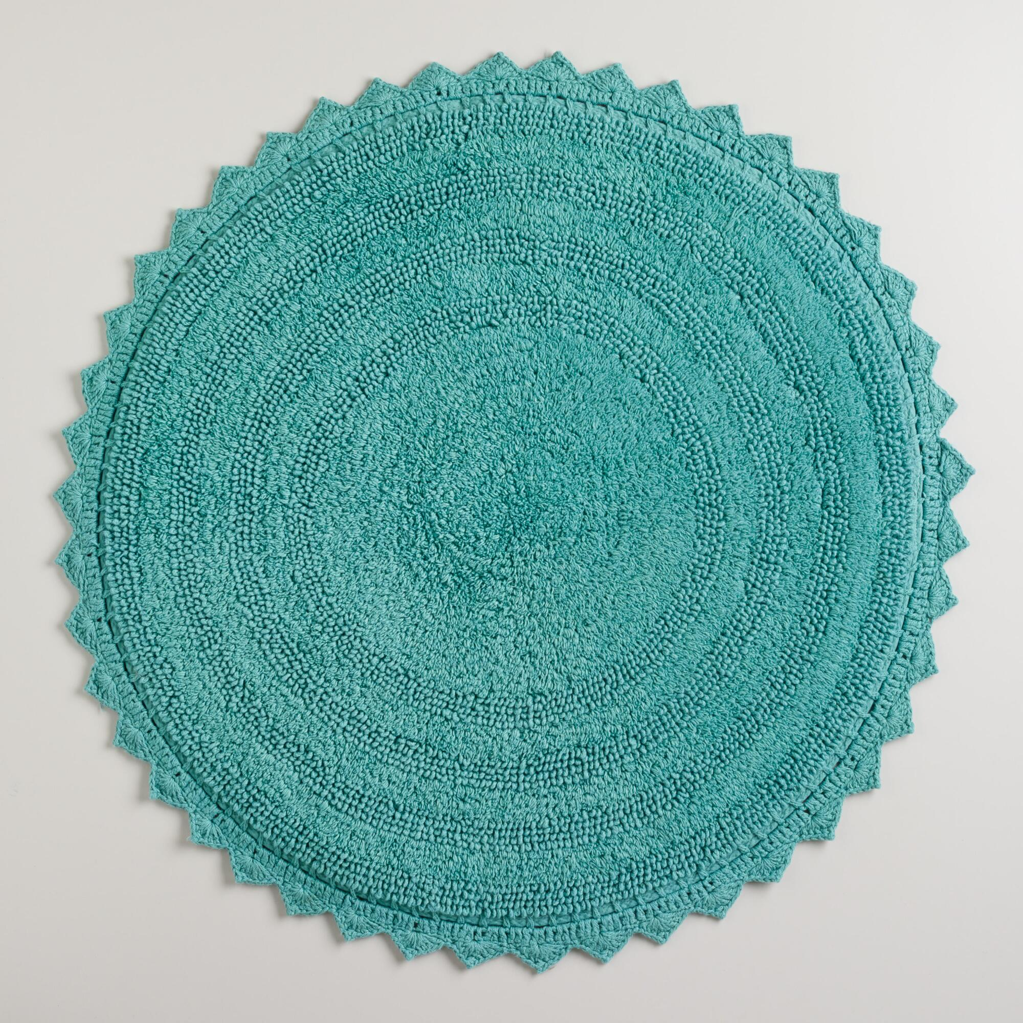 Beryl Green Round Bath Mat World Market
