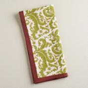 Sage and Plum Damask Print Kitchen Towel