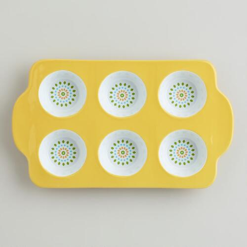 Yellow Ceramic Muffin Pan
