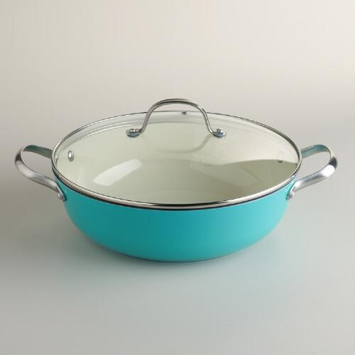Aqua Lightweight Cast Iron Braiser