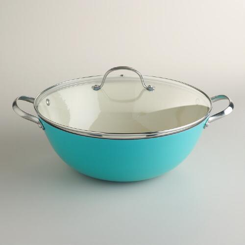Aqua Lightweight Cast Iron Stew Pot