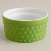 Green Hobnail Ramekins, Set of 4